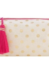 Metallic Gold Dot Cosmetic Pouch
