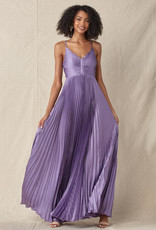 Pleated Gown Lavender