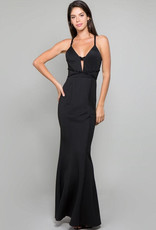Black Gown with Beading