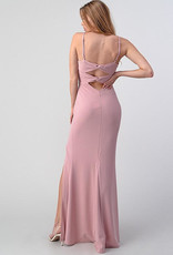 Mauve Gown with Back Bow Detail
