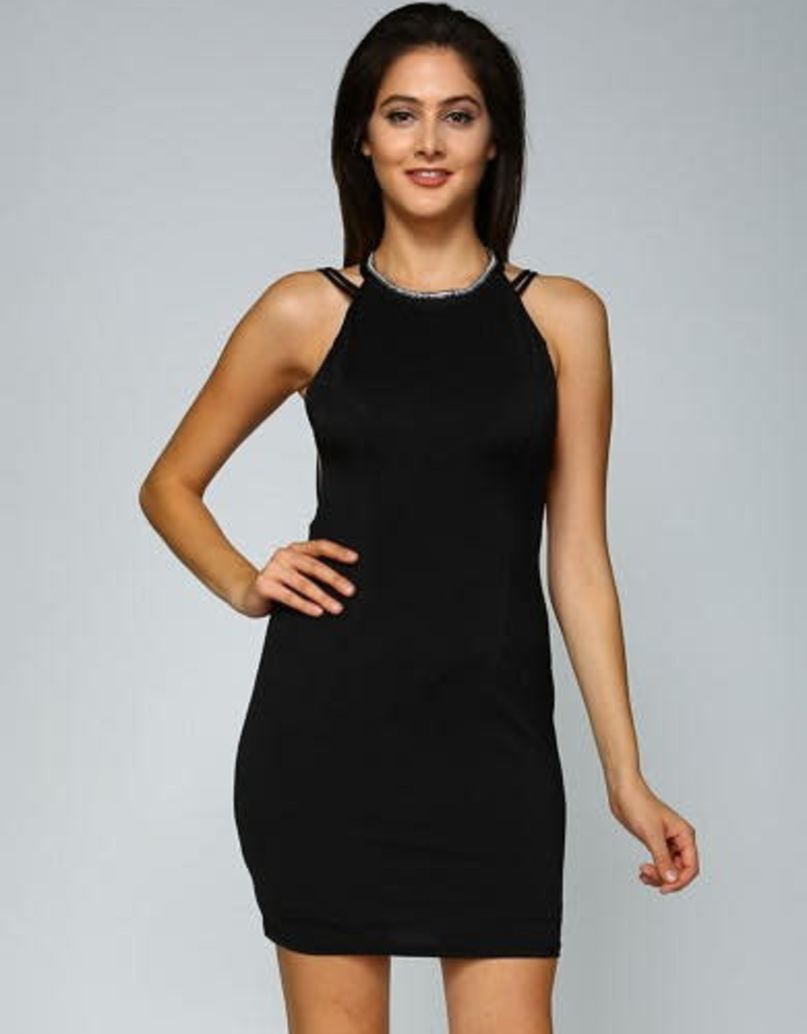 Minuet Fitted Mini Dress with String Detail