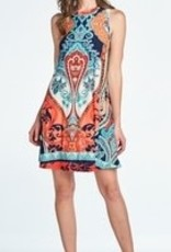 ReneeC Paisley Print Dress