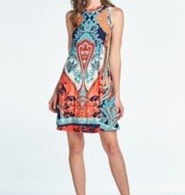 ReneeC Paisley Print Dress
