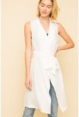 White Trench Vest