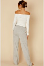 Off the Shoulder LS Snap Button Ivory