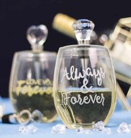 Wine Glass Stopper Set Always & Forever