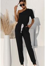 One-Shoulder Jumpsuit Black