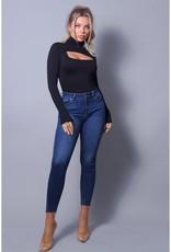 Long Sleeve Front Cut-Out Bodysuit