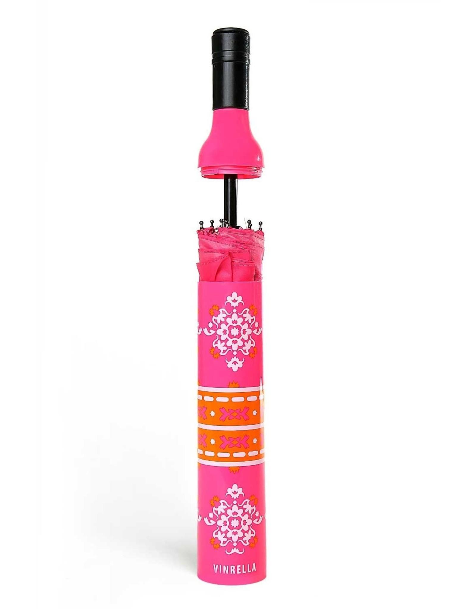 Wine Bottle Umbrella - Pink Boho