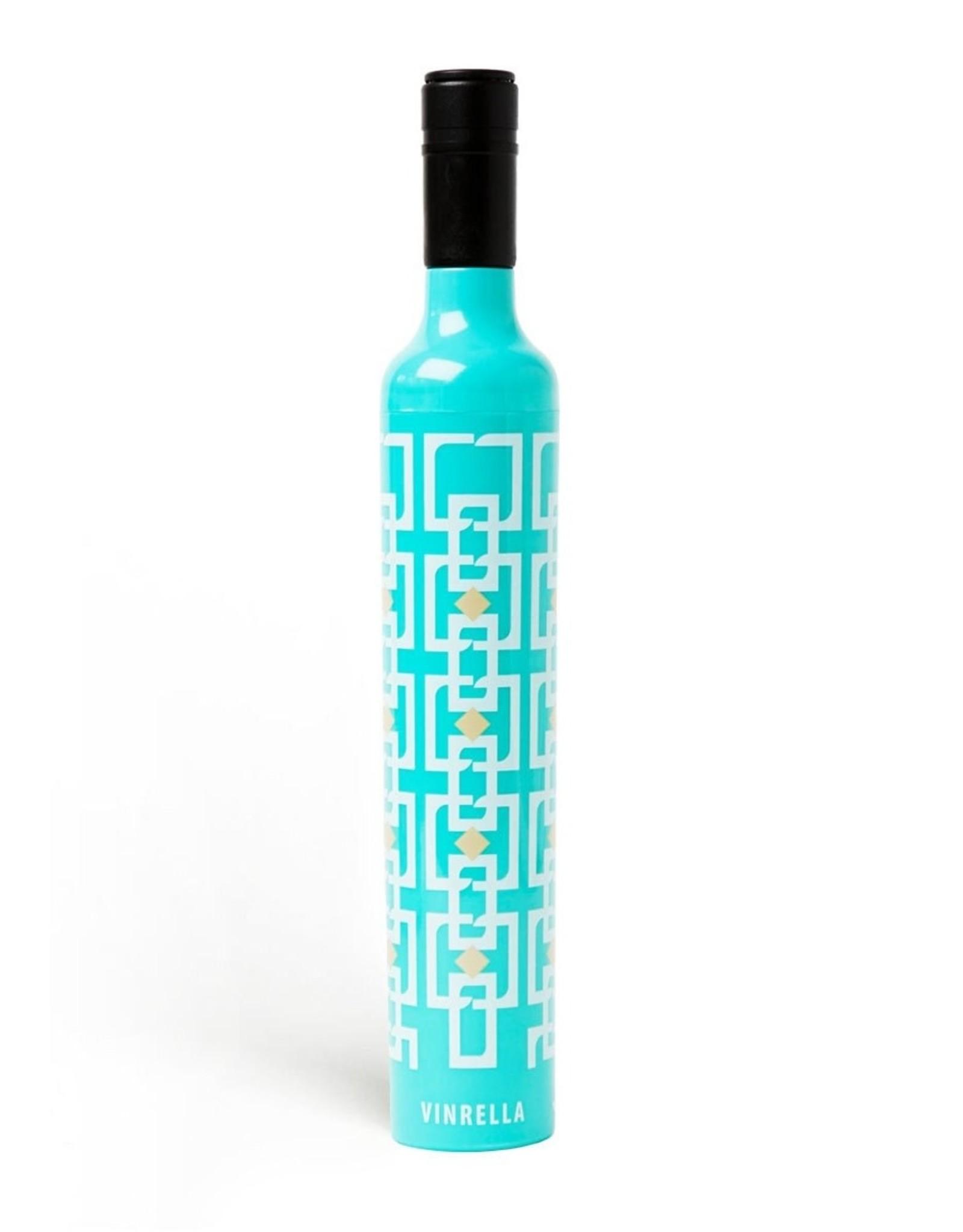 Wine Bottle Umbrella - Vintage Turquoise