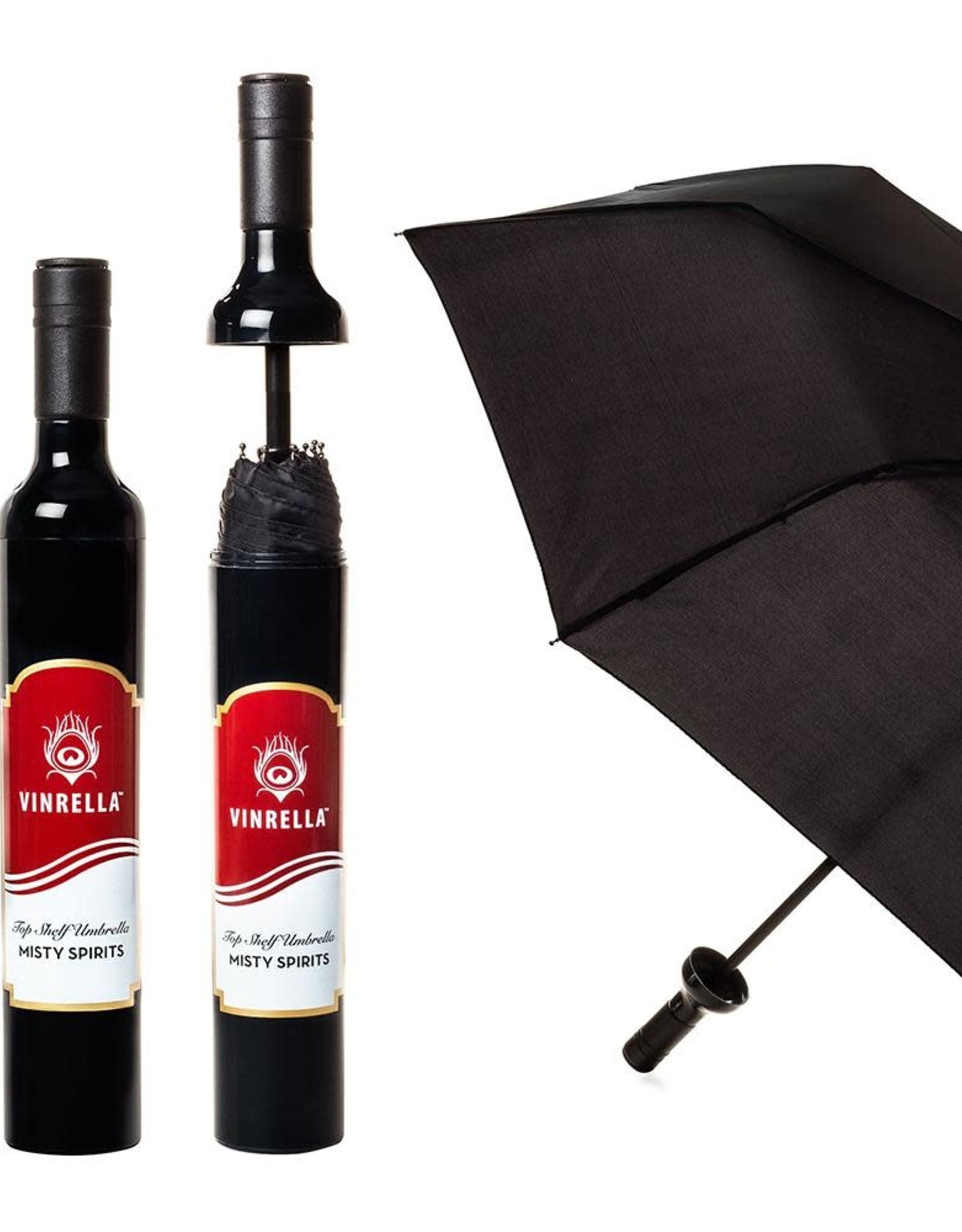 Wine Bottle Umbrella - Misty Spirits