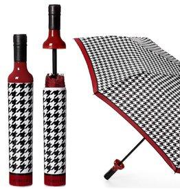 Wine Bottle Umbrella - Houndstooth