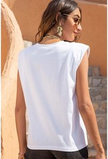 Shoulder Pad Top White