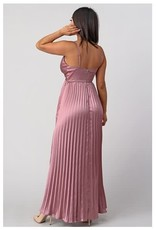 Dusty Pink Maxi w/Pleated Skirt
