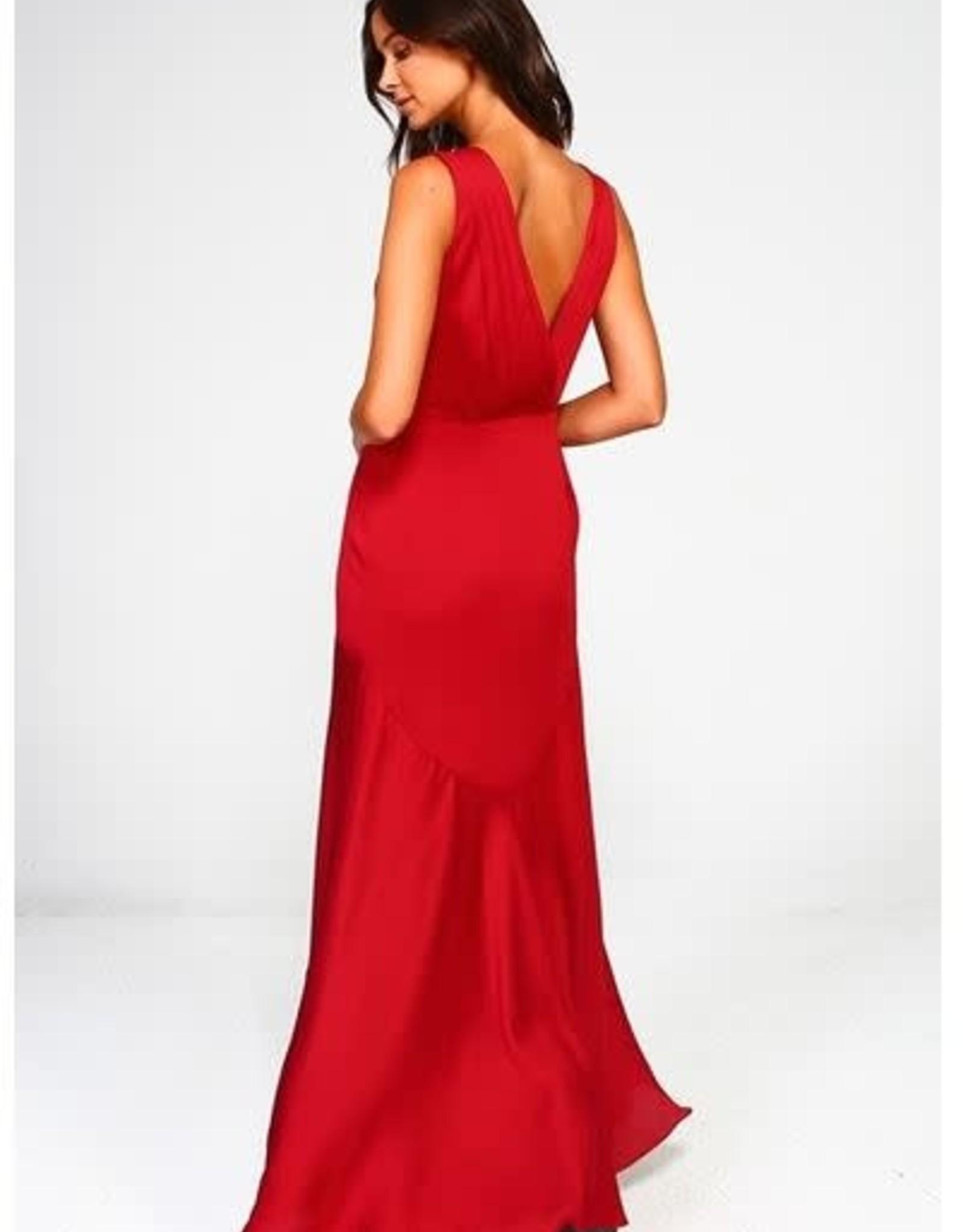 V-Neck Asymmetric Gown