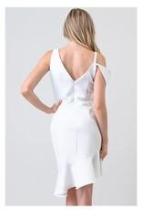 White Asymmetric Dress