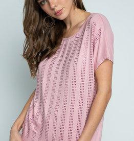 Short Sleeve Top w/Rhinestones