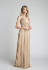 Gold Sparkle Gown w/Back Strap Detail
