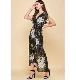Floral High Low Maxi