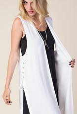 Side Lace-Up Vest - White