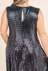 Metallic Party Dress PLUS