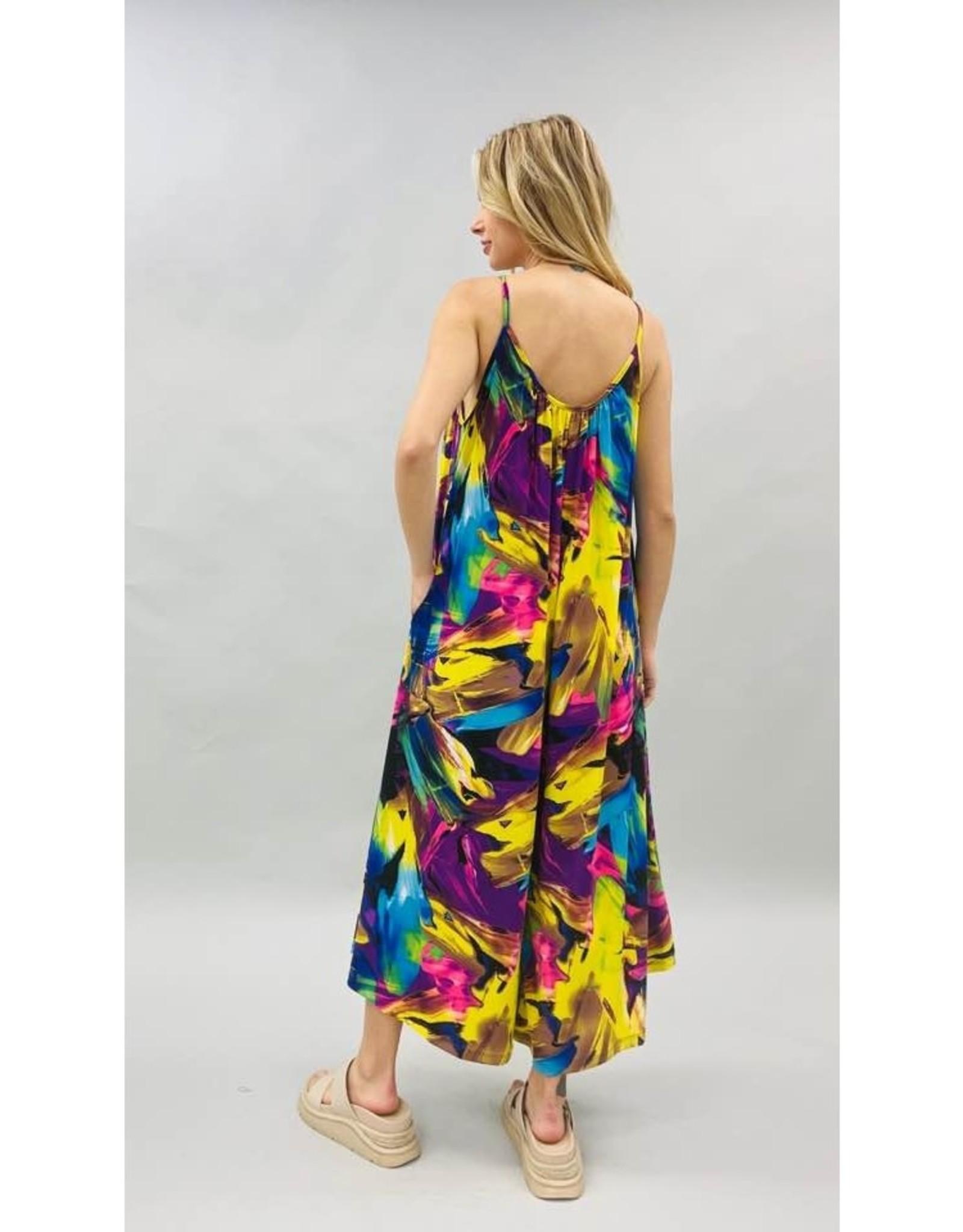 Multi Color Soft Knit Jumpsuit