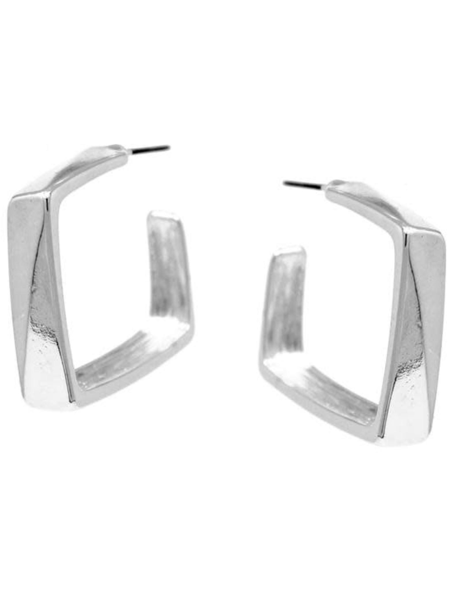 Square Shape Hoop 25mm - Silver