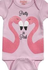 Onesie Flamingo 6-12 Pink
