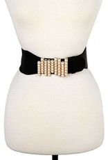Pearl Accent Fashion Stretch Belt