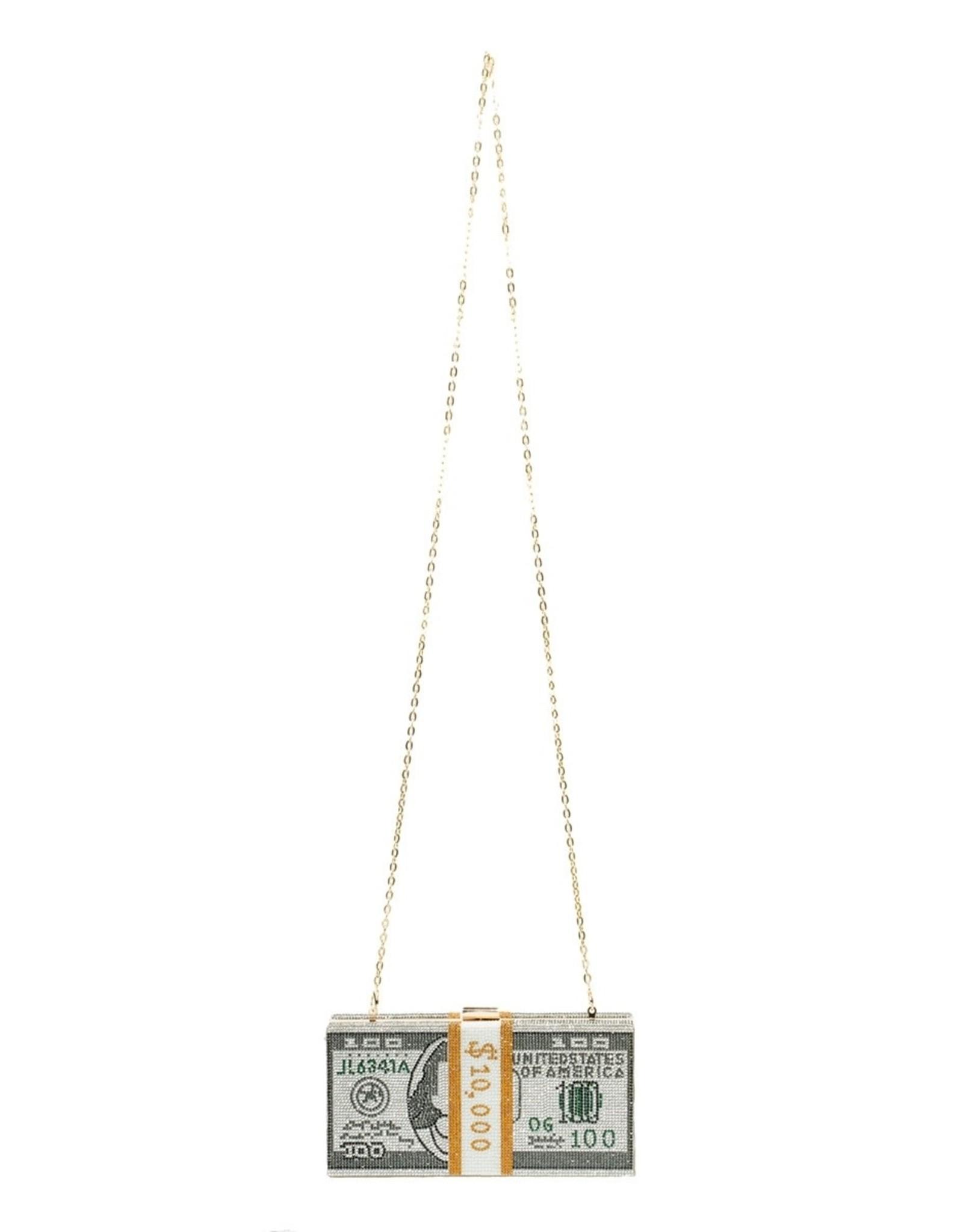 Stack of Cash Rhinestone Clutch