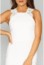 Lace Trim Sleeveless Bodycon
