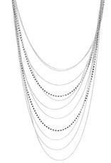 Rhinestone Ball Chain Multi Layered Necklace Set