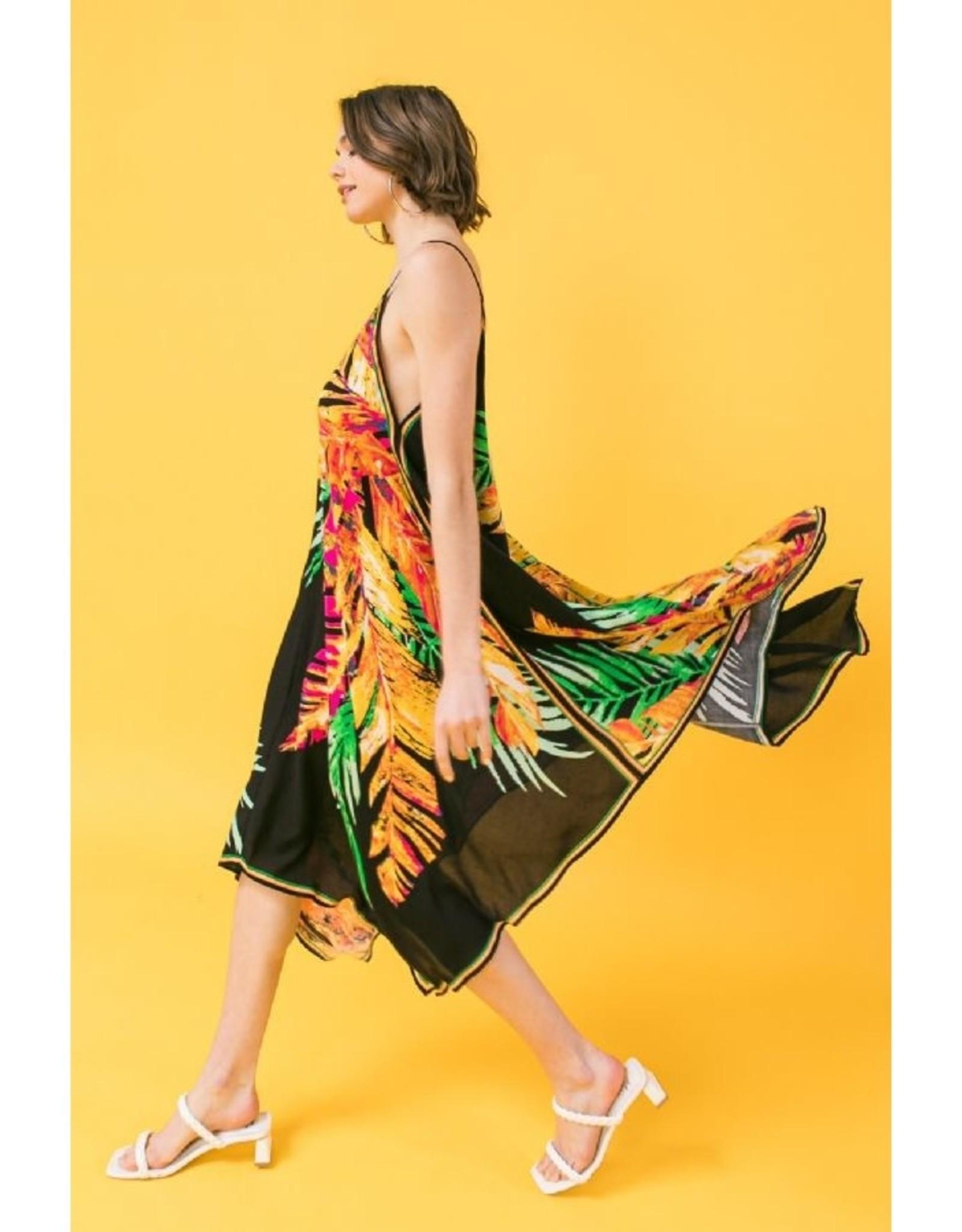 Palm Print Hanky Dress