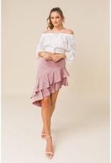 Asymmetric Ruffle Skirt