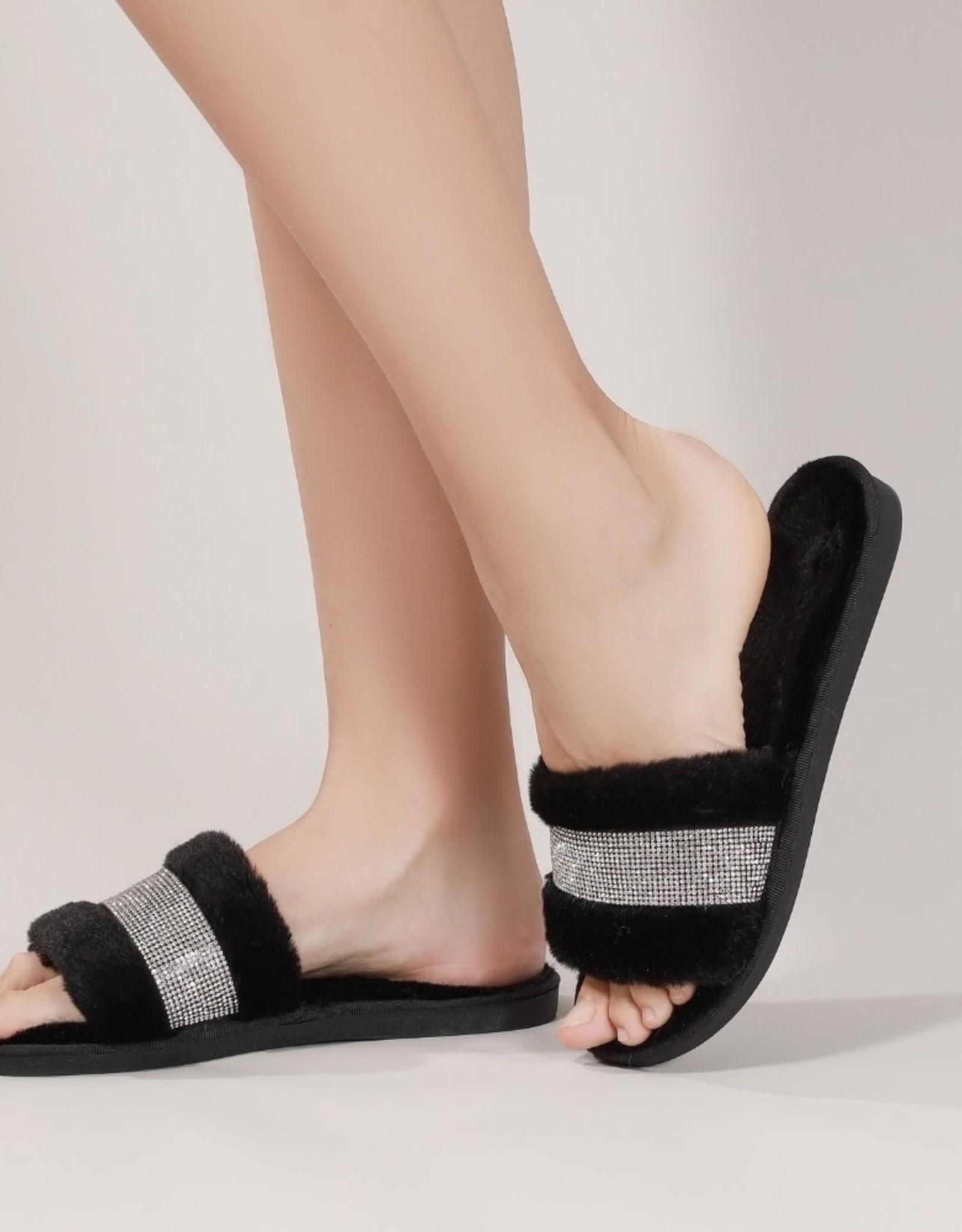 Massage Tech Glam Slippers - Black