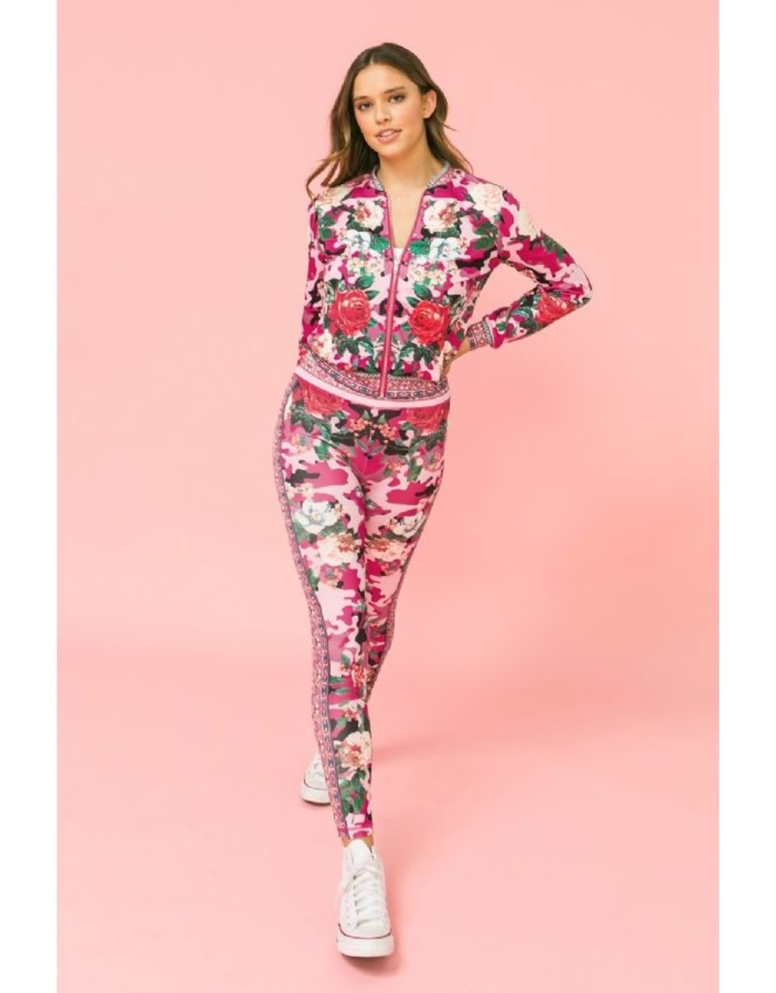 Pink Camo/Floral Track Suit
