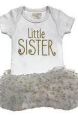 Onesie/Tutu Little Sis 3 Months Wht