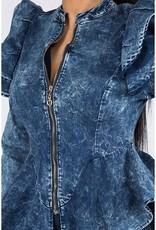 Stretch Washed Denim Jacket