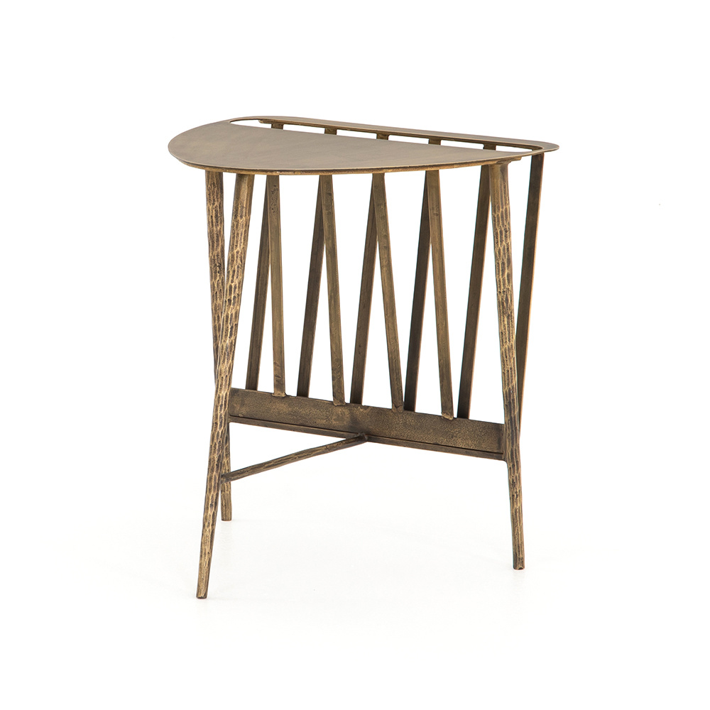 Tralee End Table - Aged Brass