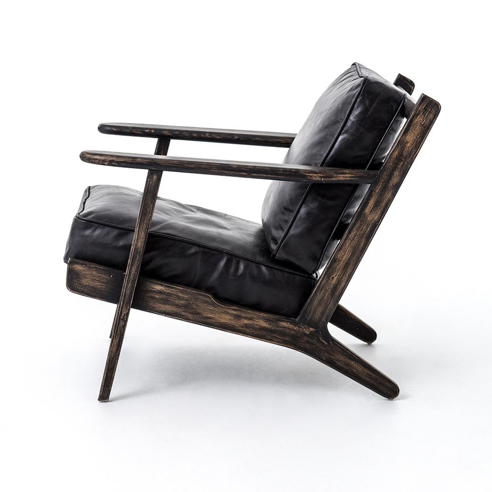 Breckenridge Lounge Chair - Black Leather
