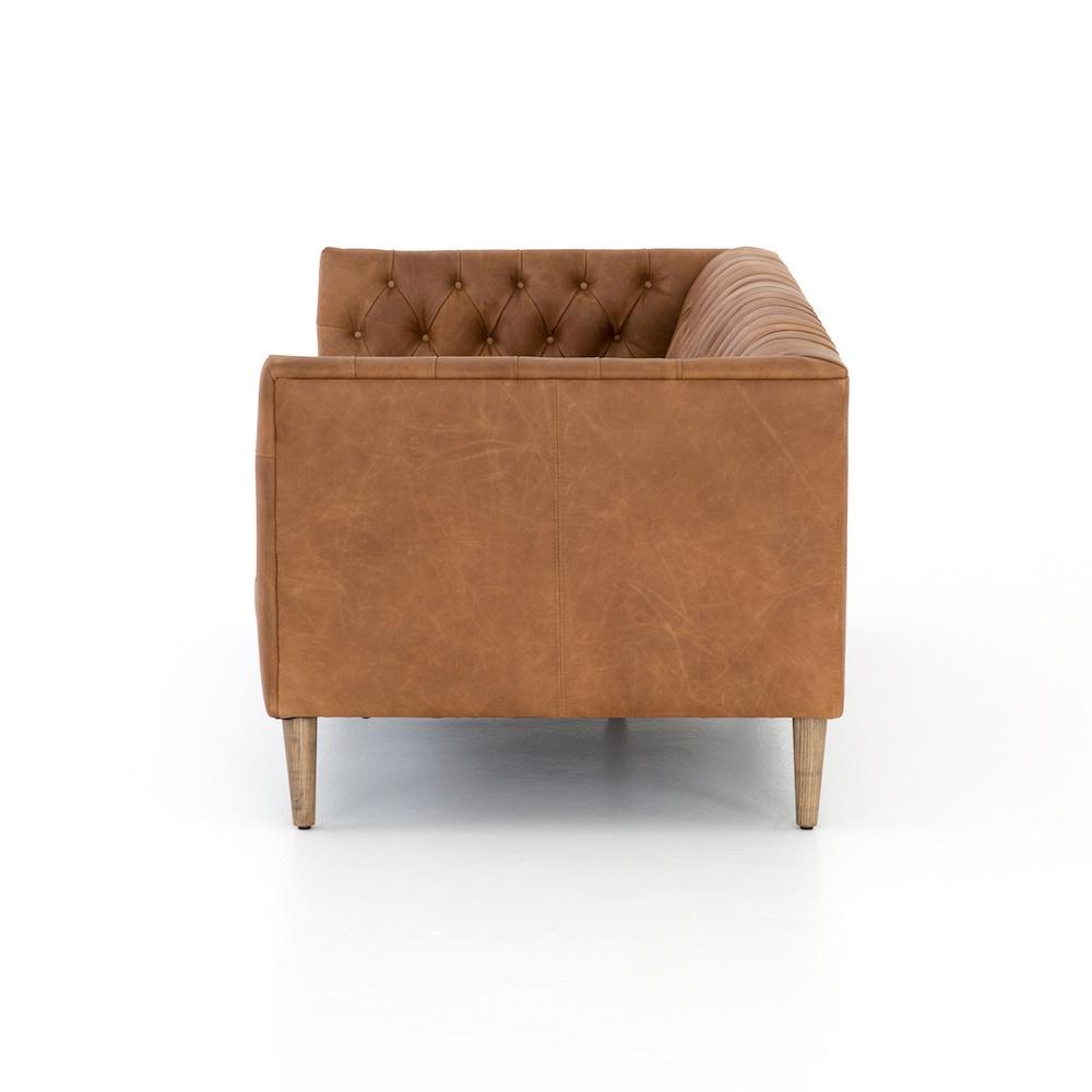"""Kingston Leather Sofa 75"""""""