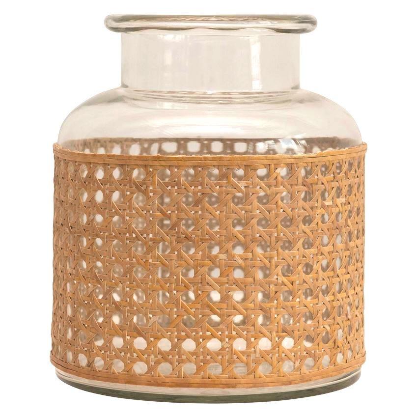 Woven Wrap Glass Vase