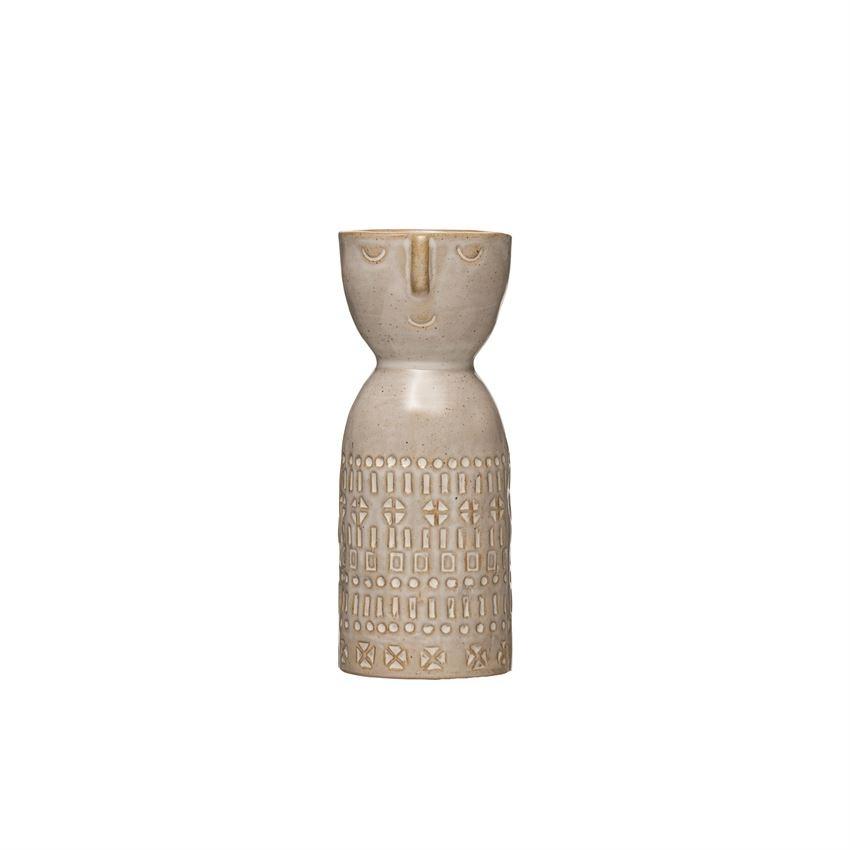 Small Figure Vase, Glazed
