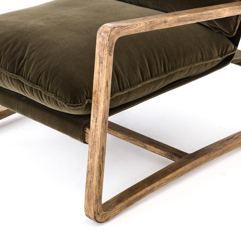 Vail Chair, Olive Green Velvet