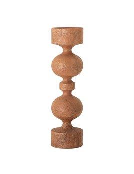 Large Round Mango Wood Candle Holder
