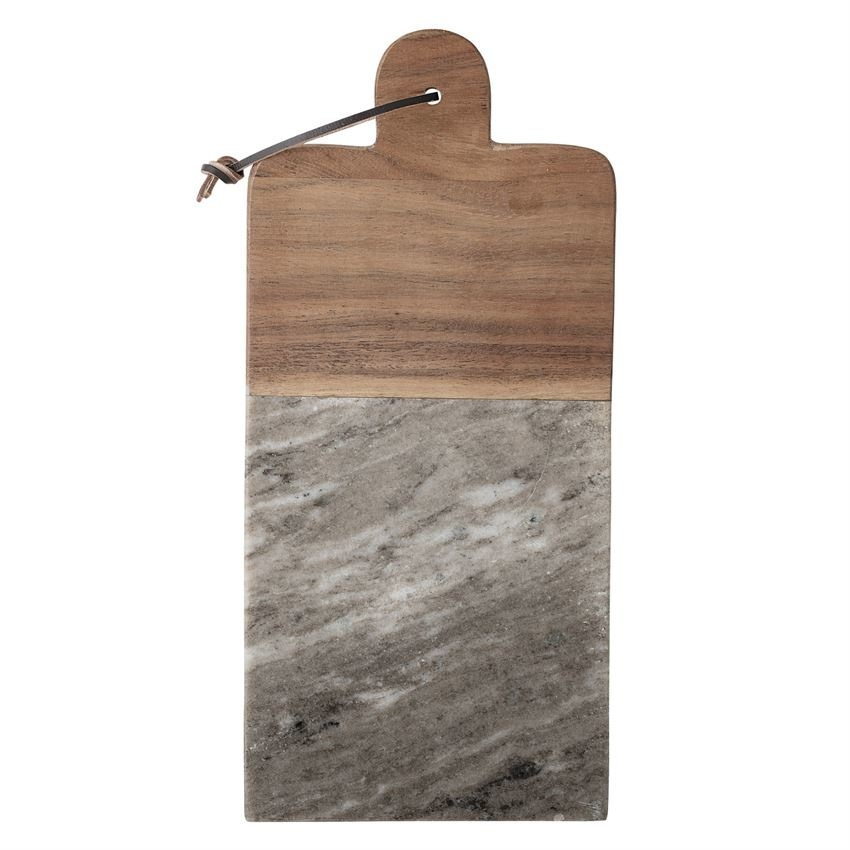 Marble Wood Cutting Board & Canape Knife