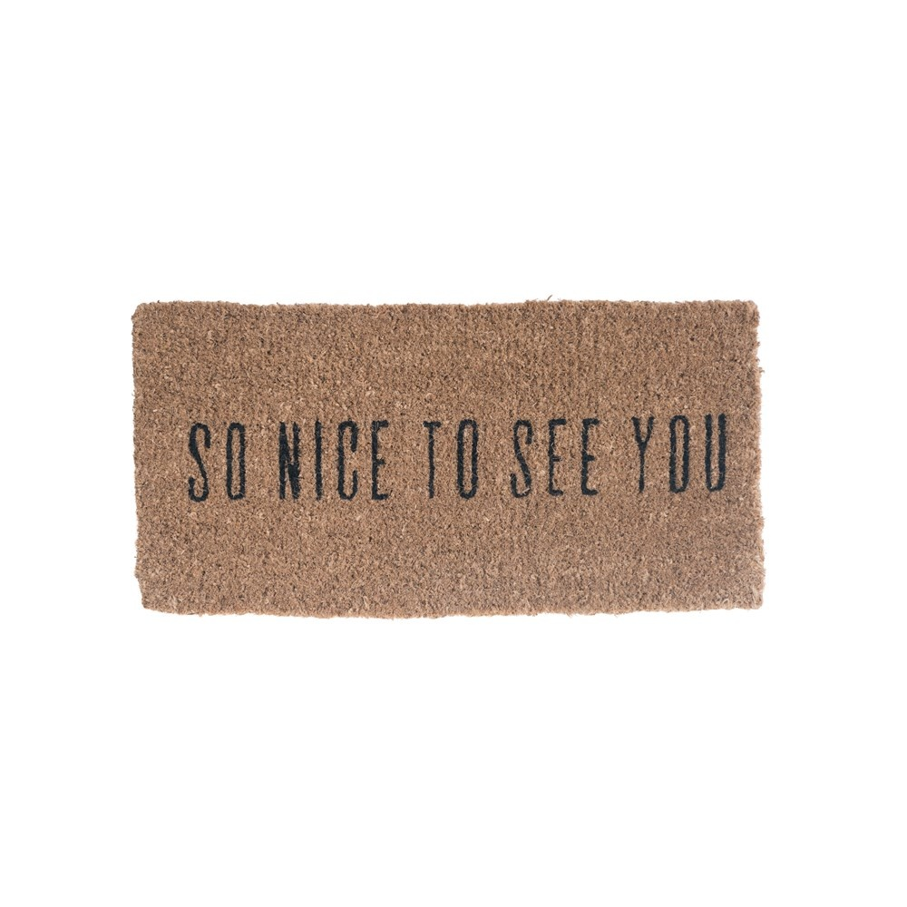 Natural Coir Nice To See You Doormat