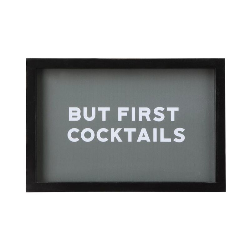 """But First, Cocktails"" Wall Art"