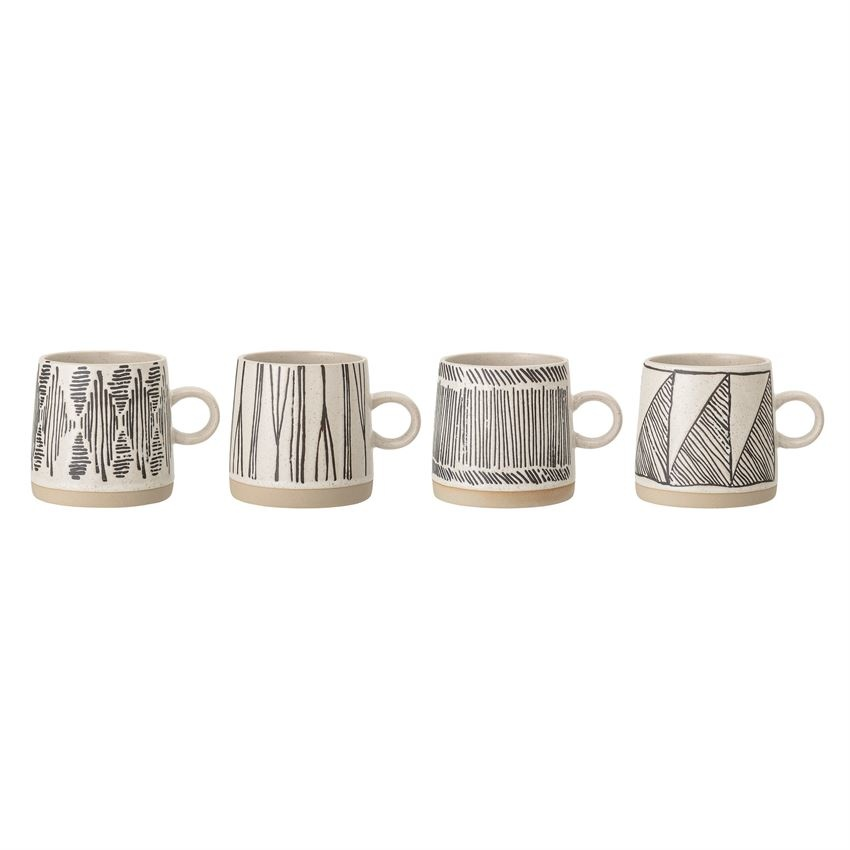 Stoneware Mug, 4 Styles Available