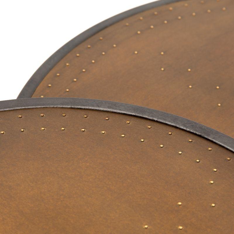 Detroit Nesting Tables - Brass Clad